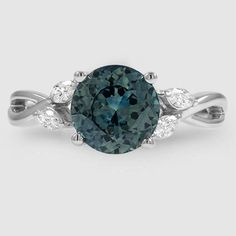 Sapphire Willow Diamond Ring