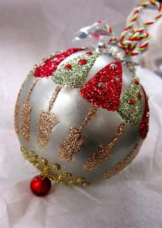 Holiday Glass Ornament.