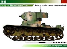 TT-26 Prime remote controlled flamethrower tank