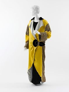 Opera coat | Paul Poiret (French, 1879-1944) | France, 1912 | Materials: silk, metal | The Metropolitan Museum of Art, New York