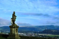 Stirling, Scotland  Overlooking the William Wallace (Braveheart) Memorial, footland of the Highlands. (Nov. 2011)