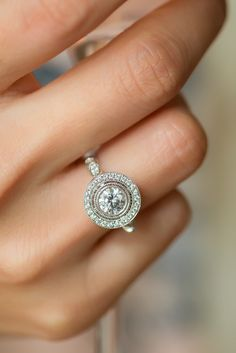 This vintage-inspired ring is beautiful and timeless @JamesAllenRings Item #17119P