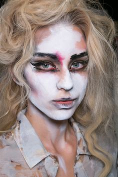 Makeup at Vivienne Westwood Red Label S/S 2014, London Fashion Week