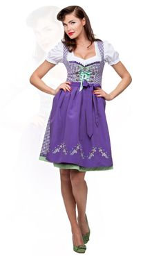 Stockerpoint midi dirndl 2pcs. Jasmin violet 60 cm #Stockerpoint #traditional #Party