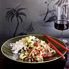 """""""I was a student in Beijing during World War II,"""" says chef Cecilia Chiang. """"To flee occupied China, I walked with my sister to Chongqing; it took close to six months. In Shanghai homes, this stir-fried cabbage-and-pork recipe is typical."""""""
