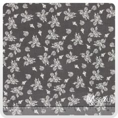 Think Pink - Floral Gray Yardage from Missouri Star Quilt Co