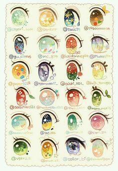 Drawing Eyes Expression anime, eyes, and kawaii image - Realistic Eye Drawing, Manga Drawing, Drawing Tips, Drawing Reference, Drawing Art, Drawing Ideas, Arte Do Kawaii, Kawaii Art, Kawaii Anime
