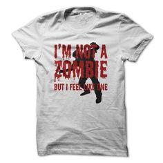 I'm Not A Zombie Funny T Shirts, Hoodies, Sweatshirts. GET ONE ==> https://www.sunfrog.com/Zombies/Im-Not-A-Zombie--Funny-T-Shirt.html?41382
