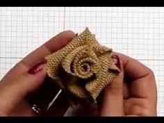 Цветы из ленты: атласной, мешковины или другой. Мастер-класс.