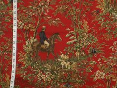 Ralph Lauren horse toile fabric home decorating by Brick_House_Fabrics, via Flickr