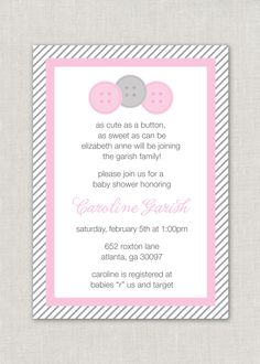baby shower cute as a button 800 via etsy