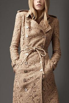 Burberry Corded Lace Trench Coat Profile Photo