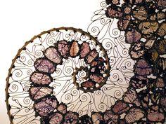 spiral art: lilac spiral © Gill Hobson 2011