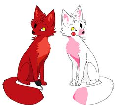 Foxy x Mangle forever Five nights at freddys  Wolf124