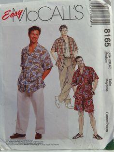 McCall's 8165 Men's Shirt, Tank Top, Pants and Shorts