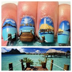 Tahitian Beach Nail Art