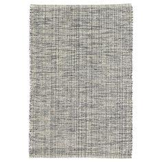 Marled Indigo Woven Cotton Rug design by Dash & Albert