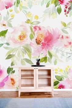 Lovely Peony Mural Removable Wallpaper-peel and Stick | Etsy