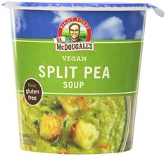 Dr. McDougall's Right Foods Vegan Split Pea Soup Gluten Free, 2.5-Ounce Cups (Pack of 6) *** You can get additional details at the image link.