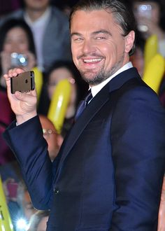 Leonardo DiCaprio is all smiles as he scores a perfect 10 at the Selfie Olympics during the Tokyo premier of The Wolf of Wall Street, January 2014 Leonardo Dicaprio 90s, Lab, All Smiles, Hollywood Actor, Film Industry, Celebs, Celebrities, American Actors, Actors & Actresses