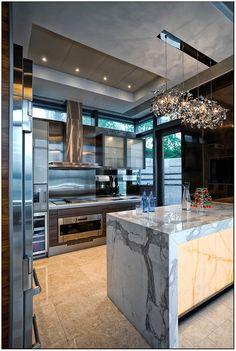 Kitchen in marble