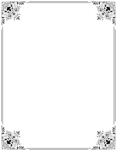 Free fancy border templates including printable border paper and clip art versions.