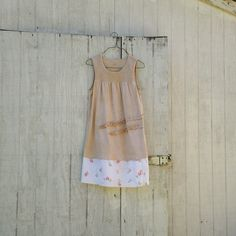 mori girl Spring dress / eco dress / upcycled clothing / tattered dress / casual dress / boho mini dress