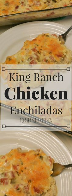 King Ranch Chicken Enchiladas | Chicken Enchiladas | Tasty | Easy Chicken Enchiladas |King Ranch Enchiladas | Texas Family Kitchen