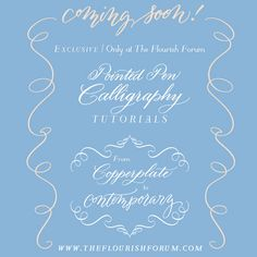 Pointed Pen Tutorials at the Flourish Forum -- FREE Calligraphy instruction from my friend Erica McPhee!