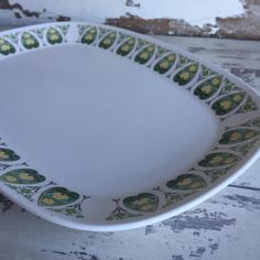 Vintage Noritake Progression Platter - Palos Verde Green and White by TheClassicButterfly on Etsy