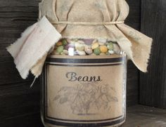 Pantry Jar       Beans by MapleStreetShoppe on Etsy