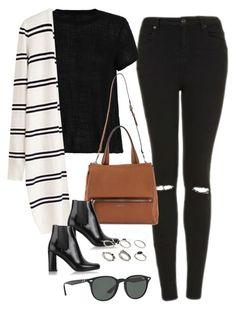 """Untitled #4014"" by olivia-mr ❤ liked on Polyvore featuring Topshop, Enza Costa, Givenchy, Yves Saint Laurent, Ray-Ban and ASOS"