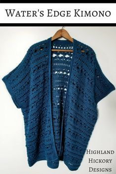 Water's Edge Kimono - Free Crochet Pattern - Highland Hickory Designs