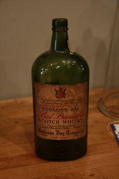 Hudson Bay whisky bottle