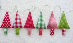 Sapin de Noël de tissu garland Bruant de Noël