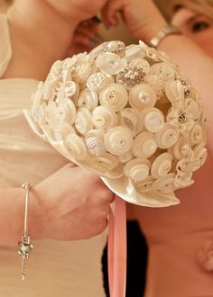 White button bouquet.