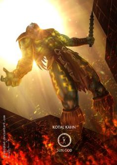 Mortal Kombat X-Kotal Kahn  Sun God Variation by Grapiqkad