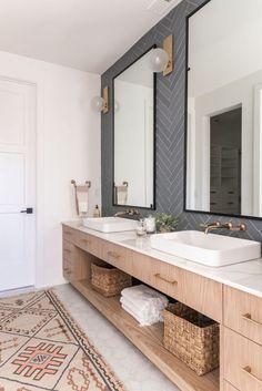 Modern Bathroom, Master Bathroom, Bedroom Modern, Shared Bathroom, Jack And Jill Bathroom, Hudson Valley, Bathroom Renos, Bathroom Spa, Bathroom Shelves