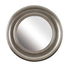 Hampton Luxury Round Mirror in Silver from Raines and Willow