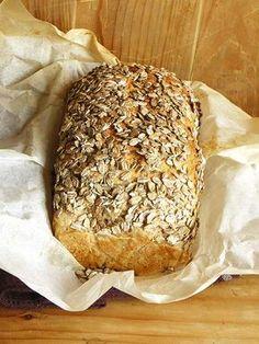 Nocny chleb pszenno-żytni Rye Bread, International Recipes, Bagel, Banana Bread, Baking, Breads, Desserts, Dom, Foods