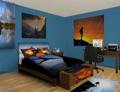 Rock Climbing Men's Bedroom at http://www.visionbedding.com/Rock-Climbing-Adult-Boy_Bedroom-rm-11283  #Home Decor