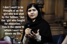 """12 Powerful And Inspiring Quotes From Malala Yousafzai"" (quote) via buzzfeed.com"