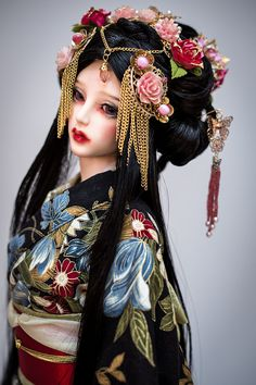 Sayuri syn mohair wig for bjd SD MSD Tiny Fashion by AmadizStudio