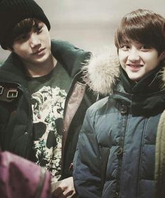 Kyungsoo looking like a cute fluffball.... But don't let his cuteness fool you! He is Satansoo!