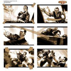 Dan Milligan Illustration Ltd. Film & Game Samples