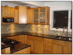 Oak Cabinets With Granite Countertops | Home And Cabinet Reviews