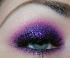 Epic purple glitter smoky