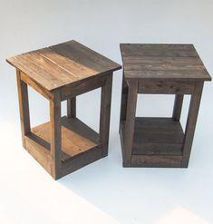 Handmade Black Wooden Bedside Tables. by MalletsandPallets on Etsy, £120.00