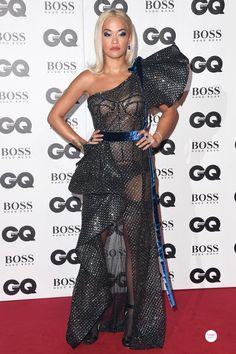 ccc239a0427 Rita Ora GQ Men of the Year Awards 2018 wearing sapphire and diamond  Lorraine Schwartz jewels