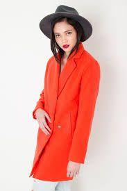 Angelina Oversized Boyfriend Coat In Orange Boyfriend Coat, Grey Fashion, Blazer, Orange, Celebrities, Jackets, How To Wear, Clothes, Women